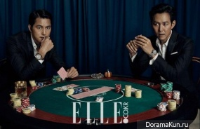 Lee Jung Jae, Jung Woo Sung для Elle October 2015