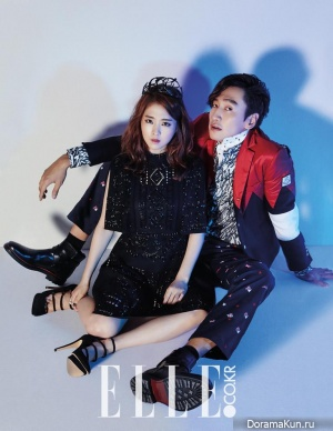 Lee Kwang Soo, Park Bo Young, Lee Chun Hee для Elle November 2015