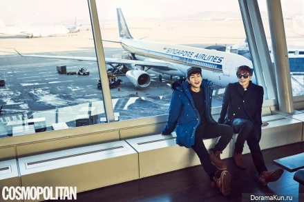 Super Junior (Leeteuk), SHINee (Onew) для Cosmopolitan February 2015