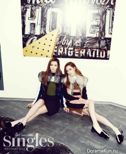 After School (Jung Ah, Jooyeon) для Singles November 2013