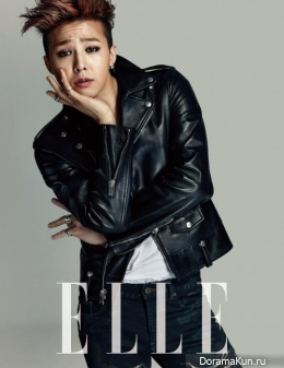 Big Bang (G-Dragon) для Elle February 2014
