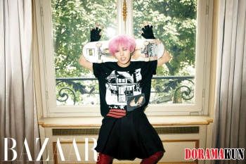 Big Bangs G-Dragon для Harpers Bazaar Korea August 2012