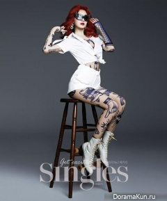 Davichi (Kang Min Kyung) для Singles Korea September 2013
