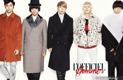 F.T. Island для L'OFFICIEL Hommes December 2012