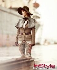 Han Ji Hye для InStyle Korea October 2012