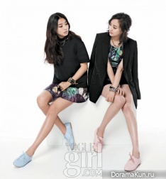 Park Ji Yoon, Bora, Soyu, HyunA для Vogue Girl Korea 2012 Pink Wings Campaign