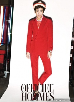 Joo Ji Hoon для L'Officiel Hommes August 2013