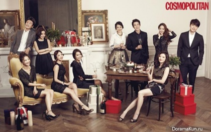 KINGKONG Entertainment Family для Cosmopolitan Korea December 2013
