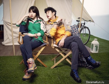Kim Soo Hyun, Suzy для Bean Pole Outdoor SS2013 Ads