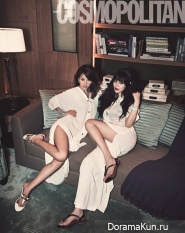 Lee Hyori, Park Si Yeon, Ahn Hye Kyung, и Maybee для Cosmopolitan Korea April 2012