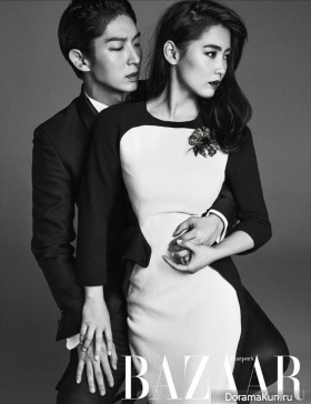 Lee Jun Ki, Nam Sang Mi для Harper's Bazaar Korea July 2014