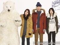 Lee Min Ki и др. для UNIONBAY Winter 2012 Ads