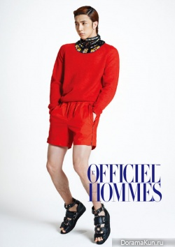 MBLAQs Thunder для LOfficiel Hommes Korea April 2012