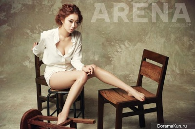 Nine Muses (Kyung Ri) для Arena Homme Plus February 2014