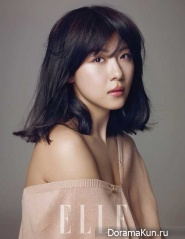 Park Si Yeon, Ha Ji Won для Elle Korea April 2012