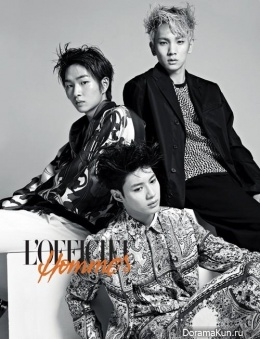 SHINee для L'Officiel Hommes March 2013