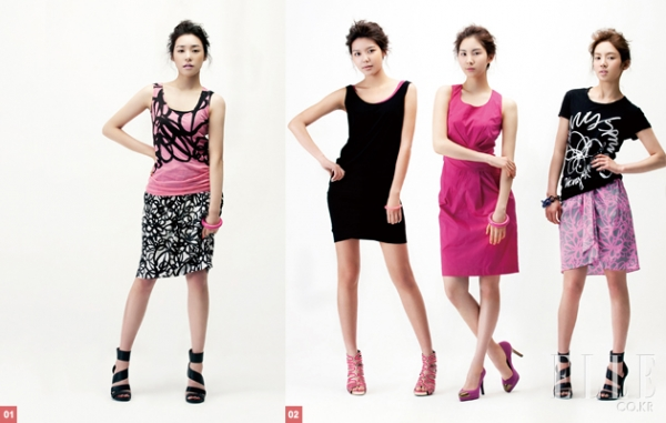 SNSD для Elle Korea April 2010