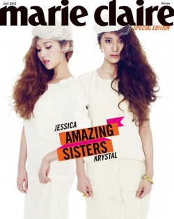 SNSDs Jessica, f(x)s Krystal для Marie Claire Korea Special Edition July 2012