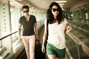 So Ji Sub, Shin Min Ah для Giordano Spring/Summer 2012 Ad Campaign