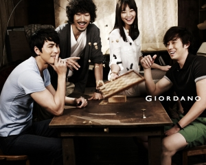 So Ji Sub, Shin Min Ah, Tiger JK, Jung Woo Sung для Giordano Spring 2011 Catalogue