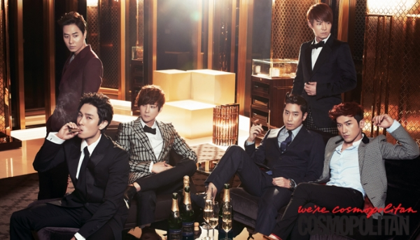 Shinhwa для Cosmopolitan Korea May 2012