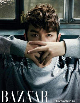 Shinhwa (Minwoo) для Harper's Bazaar October 2013