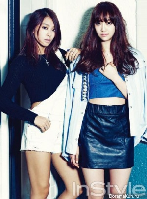 Sistar (Bora, Dasom) для Instyle Korea September 2013