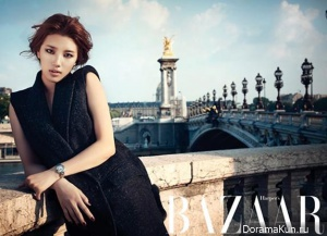 Suzy (Miss A) для Harpers' Bazaar August 2013