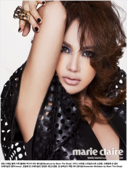 Uhm Jung Hwa для Marie Claire Korea January 2012