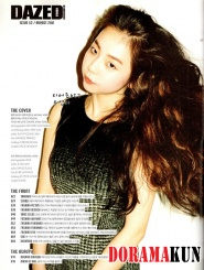 Wonder Girls' Sohee для Dazed & Confused 2012