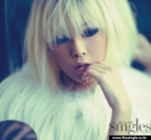 Wonder Girls' Yubin для Singles December 2011