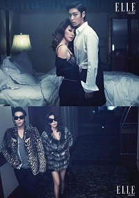 T.O.P and Lee Mi Suk for Elle Magazine