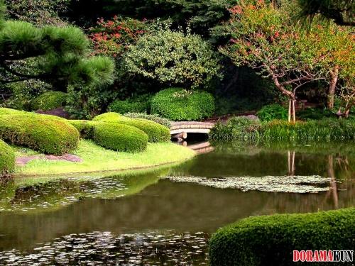 Япония. Восточные сады Императорского Дворца.