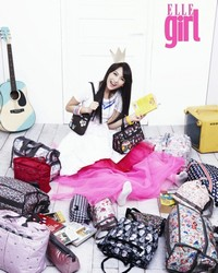 Kang Ji Young (Kara) для Elle Girl August Korea 2011